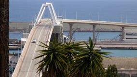 Bridge over the harbor. stock footage