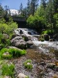 Bridge over Hat Creek. Hat Creek runs through Lassen Volcanic National Park stock images