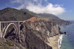 Bridge over Highway One Stock Image