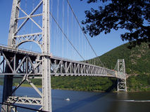 Bridge over Hudson. A bridge stretching over the Hudson River stock image