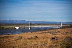 The bridge over Icelandic river Jokulsa a Fjollum Royalty Free Stock Photos