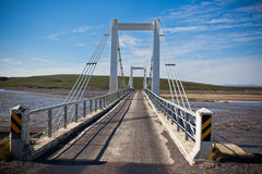 The bridge over Icelandic river Jokulsa a Fjollum Royalty Free Stock Images
