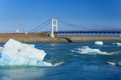 Bridge over icelands Jokulsarlon Stock Photos