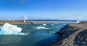 Bridge over icelands Jokulsarlon Stock Images