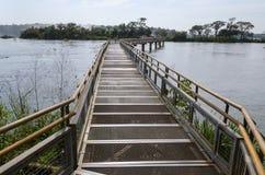 Bridge over the Iguacu River Stock Photo