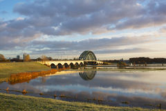 Bridge over the IJssel Stock Photography