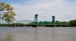 Bridge Over The Illinois River Royalty Free Stock Images
