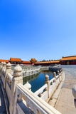 Bridge over inner Golden River in Forbidden City Royalty Free Stock Photos
