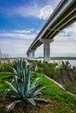 Bridge over the Intra-coastal Waterway Stock Image