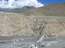 Bridge over Kali Gandaki river, Nepal Royalty Free Stock Image