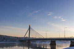 Bridge over Kemijoki river Stock Photo