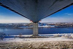Bridge over the Kiel Canal!! Royalty Free Stock Images