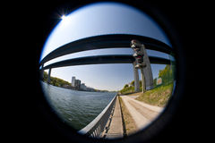 Bridge over Kiel Canal Royalty Free Stock Photo