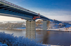 Bridge over the Kiel Canal, Germany. Royalty Free Stock Images