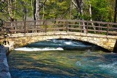 Bridge over Krka Waterfalls, Croatia Stock Image