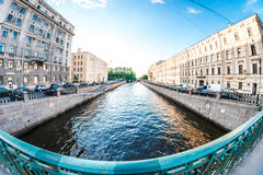 Bridge over Kryukov canal Royalty Free Stock Photo