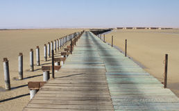Bridge over Lagoon in Ras Sudr, Egypt Stock Photos