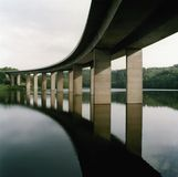 Bridge over lake Stock Photography