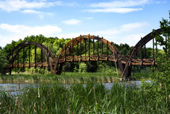 Bridge over Lake Balaton, Hungary Royalty Free Stock Photo