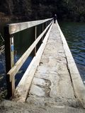 Bridge. Over lake in Pembrokeshire, Wales Stock Image