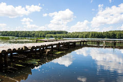 Bridge over a lake Royalty Free Stock Images