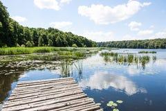 Bridge over a lake Stock Photography