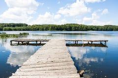 Bridge over a lake Royalty Free Stock Image