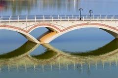 The bridge over the lake Royalty Free Stock Photos