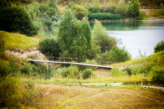 Bridge over the lake Royalty Free Stock Images