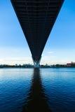 Bridge over a large river. Stock Photos