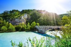 Bridge over le verdon Royalty Free Stock Image