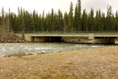 A bridge over the liard river in canada Stock Photo