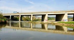 Bridge over the Llobregat River Royalty Free Stock Image