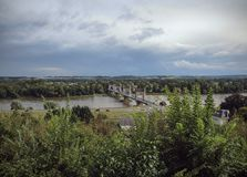 Bridge over Loire - Langeais - France stock photos