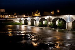 Bridge over the Loire river Royalty Free Stock Images
