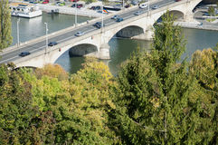 Bridge over The Main, Germany Stock Photo