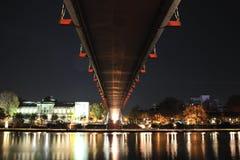 Night scene of the Frankfurt city Stock Photos