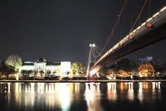 Bridge over Main River in Frankfurt, Germany Stock Photography