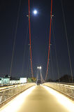 Bridge over Main river with moon in background Stock Image