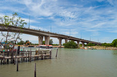 Bridge over the Malacca river. Royalty Free Stock Image