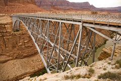 Bridge over Marble Canyon Royalty Free Stock Photos