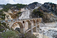 Bridge over a Marble Mine Royalty Free Stock Photos