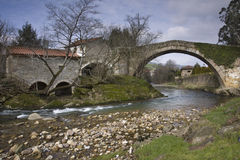 Bridge over Miera river (Cantabria) Stock Photography
