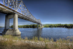 Bridge over the Mississippi Royalty Free Stock Photography