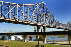 Bridge over Mississippi River Royalty Free Stock Images