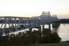 Bridge over Mississippi River royalty free stock image