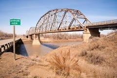 Bridge over Missouri River Montana Northern United States Stock Photo