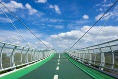 Bridge. Over the Morava River near borders Slovakia and Austria stock photography