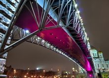 Bridge over the Moscow river Stock Photography