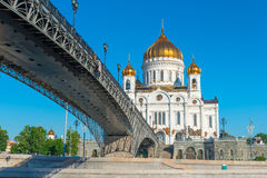 Bridge over the Moscow river Royalty Free Stock Images